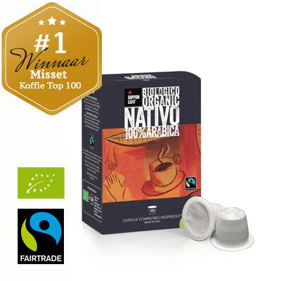 Goppion Caffè Nativo Capsules (Nespresso compatible). Doosje à 10 stuks.