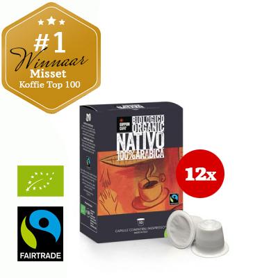 Goppion Caffè Nativo Capsules (Nespresso compatible). 12 doosjes à 10 stuks